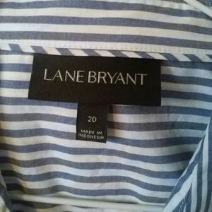 WORN ONCE Lane Bryan cotton stripe button up